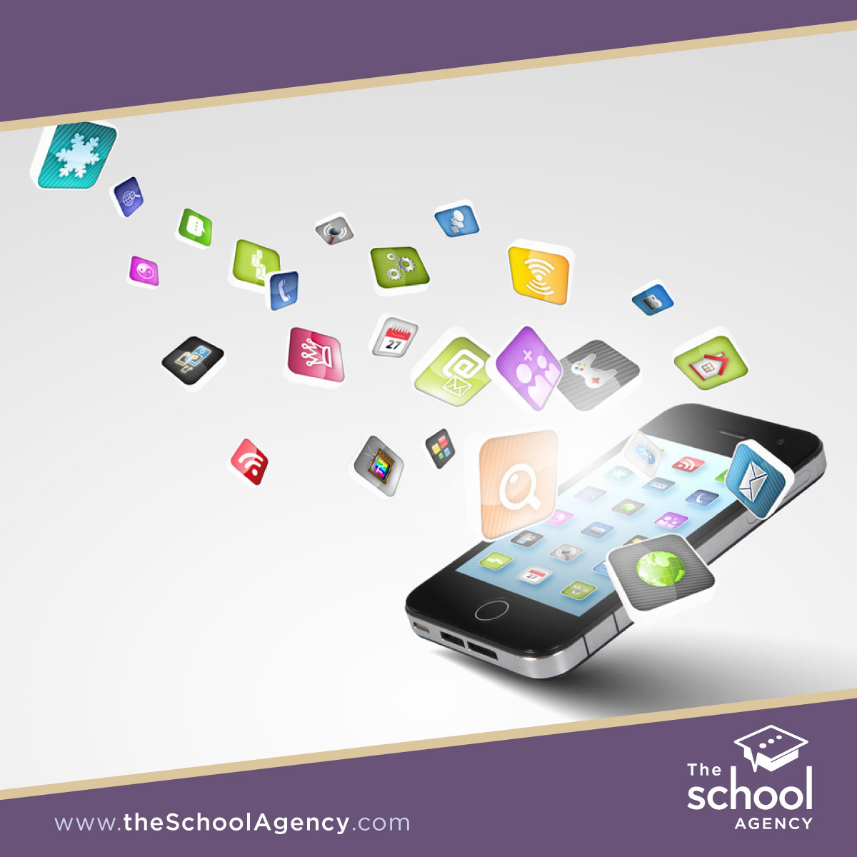 What are the advantages of a mobile app for schools?